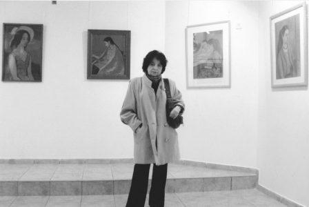 На выставке М.Аксельрода «Портреты дочери». Иерусалим, 2007 год