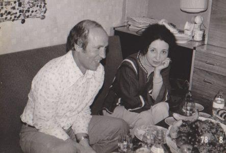 С Юрием Дружниковым на его московской квартире. 1977 год