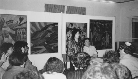 С Игорем Губерманом на творческом вечере в Иерусалимском Культурном Центре. 1994 год