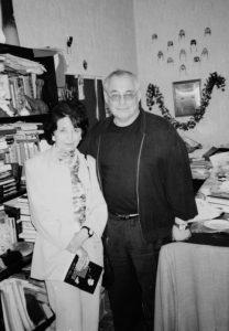 С Марком Розовским после творческого вечера в театре «У Никитских ворот». Москва, 1999 год